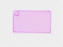 薰衣草紫色折角边框几何彩色元素