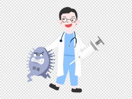 医疗医生和病毒插画