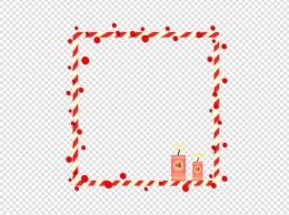 新春装饰框条纹爆竹鞭炮中国红P