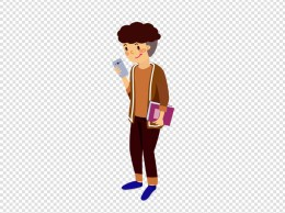 马卡龙色系扁平风学生人物套图