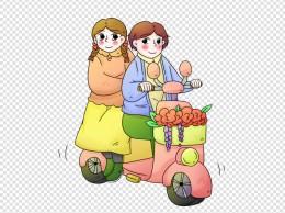 立春骑车的小女孩