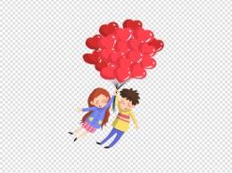 卡通手绘浪漫情侣