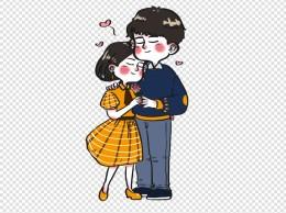 情人节甜蜜浓烈的热恋期情侣卡通