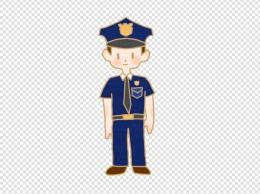 警察公安男孩卡通