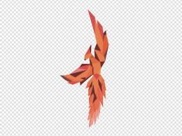 抽象几何风格火烈鸟图案
