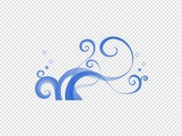 蓝色矢量通用波浪装饰图案