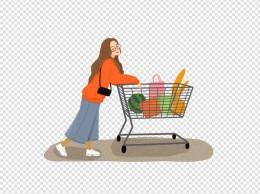 开心超市购物美女