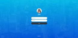 蓝色大气全屏背景通用登录页面html模板