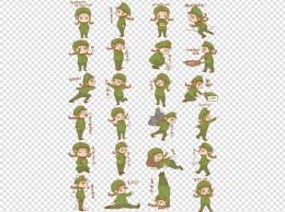 建军节女军人表情包集合插画