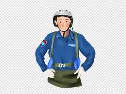 手绘空军飞行员 建军节