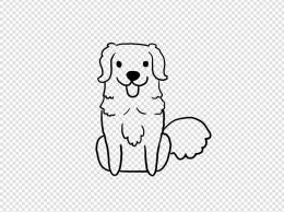 卡通狗狗儿童涂鸦线条简笔画