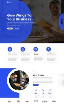 商业服务公司HTML5网站模板