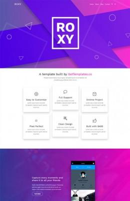 紫色大气单页HTML5模板