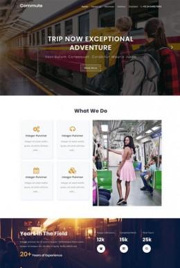 个人旅行爱好者网站模板