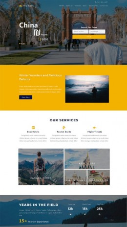 出国旅行旅游公司网站模板