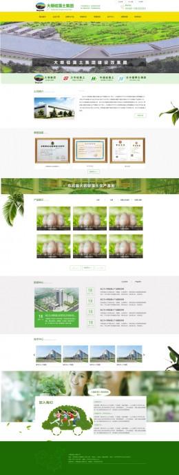 绿色大气的环保原材料生产企业网站模板