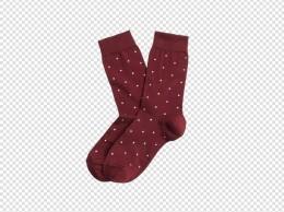 实物枣红色袜子png