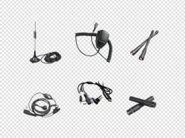 产品实物对讲机配件合集