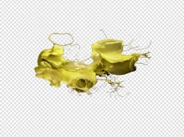 黄色油漆喷溅不规则图形油漆设计