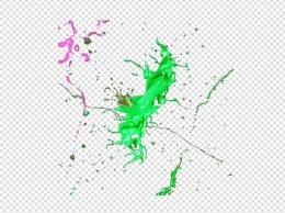 彩色颜料不规则图形油漆设计素材
