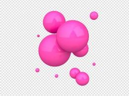 玫红色不透明球体设计