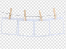 产品实物木夹子夹照片边框设计