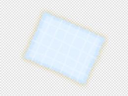 蓝色餐桌布手绘插画psd